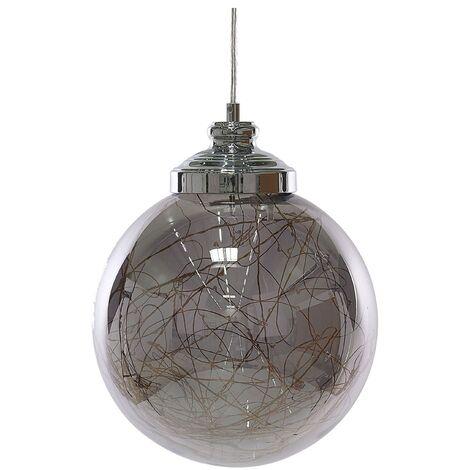 Glass Pendant Lamp Silver BENI Small