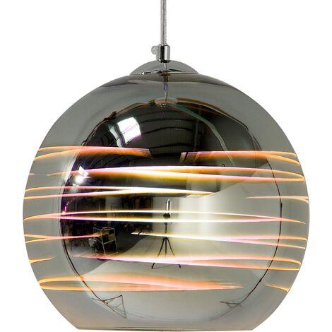 Glass Pendant Lamp Silver NURE