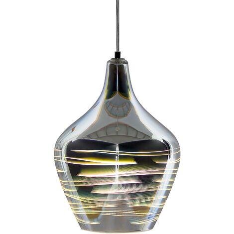 Glass Pendant Lamp Silver SANGONE