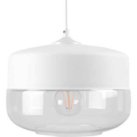 Glass Pendant Lamp White MURRAY