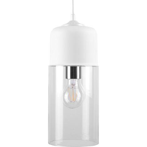 Glass Pendant Lamp White PURUS