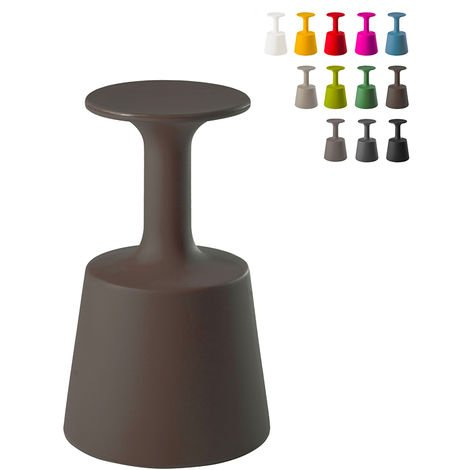 Glass-shaped bar stool for indoor, outdoor and garden use DRINK