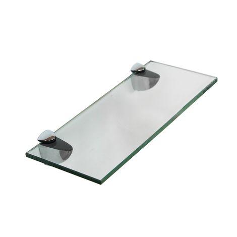 Glass shelf 20x10 with holder Bathroom shelf Mirror shelf Bathroom shelf Bracket
