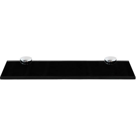 Glass shelf 30x10 Glass shelf Black Support Glass shelf Console Wall shelf