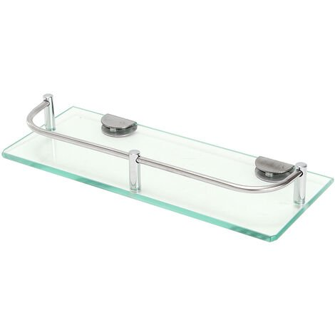 Glass Shelf Basket Wall Storage Bathroom Shower Holder Storage A