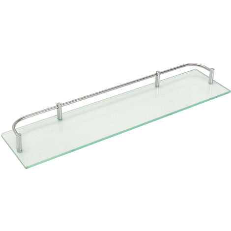Glass Shelf Basket Wall Storage Bathroom Shower Holder Storage C