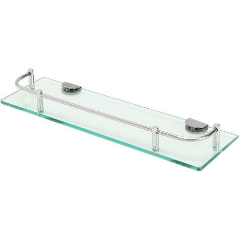 Glass Shelf Basket Wall Storage Bathroom Support Shower Storage LAVENTE