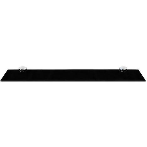 50x10CM Glass shelf + holder Black Bathroom shelf Mirror shelf Bathroom shelf Console