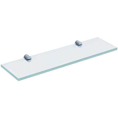 Glass Shelf With Modern Round Brackets