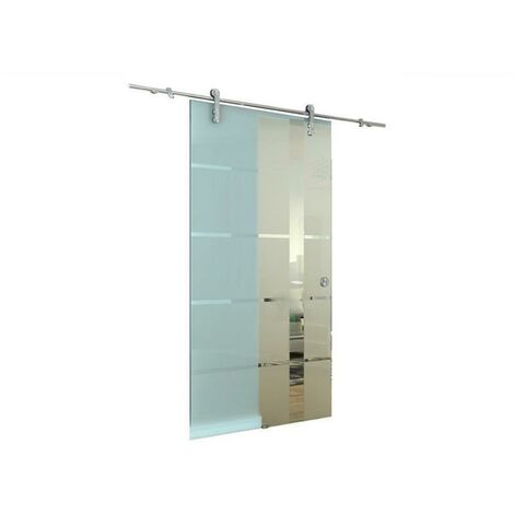 Glasschiebetür Schiebetür 2050x775x8 mm Glastür Zimmertür - Satiniert