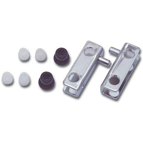Glastür Scharnierset 4-6, Zapfdurchmesser 5 mm, Zapfenhöhe 5 mm