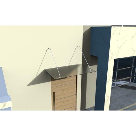 Glasvordach Edelstahl Türvordach Glas Halterung Haustür Satiniert VSG - diverse Größen