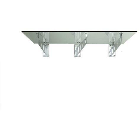 Glasvordach Typ/S 230x90cm Vordach VSG Türvordach Haustür inkl. 3x Edelstahlhalter