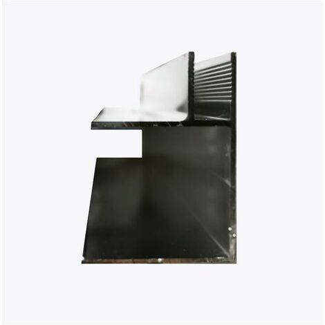Glaszentrum Hagen - Profilé d'angle en aluminium de 1950 mm (L) - profilé pour la fixation de deux vitres