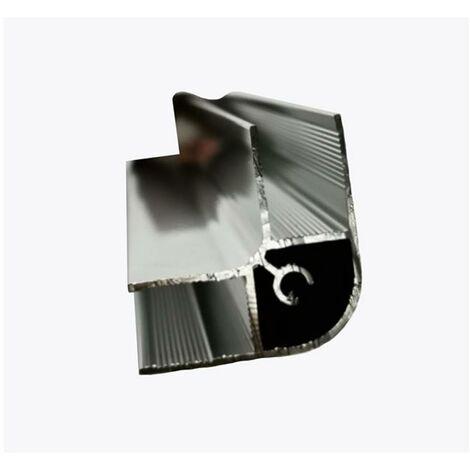 Glaszentrum Hagen - Profilé d'angle en aluminium de 2000 mm (L) - profilé pour la fixation de deux vitres