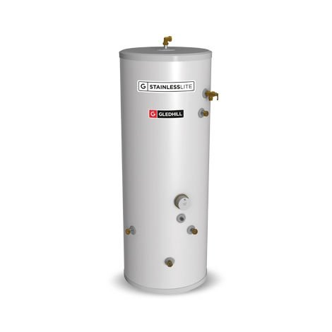 Gledhill 120 Litre Stainless Lite Plus Indirect Open Vented Cylinder
