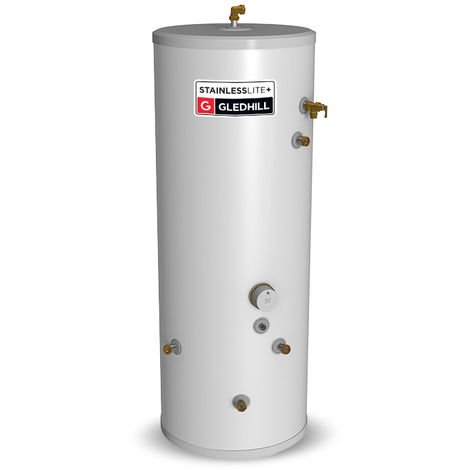 Gledhill 180 Litre Stainless Lite Plus Indirect Unvented Cylinder