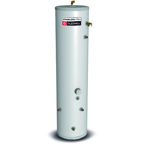 Gledhill 180 Litre Stainless Lite Plus Slimline Indirect Unvented Cylinder