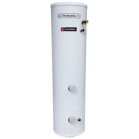 Gledhill 210 Litre Stainless Lite Plus Slimline Direct Unvented Cylinder