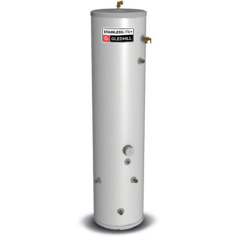 Gledhill 210 Litre Stainless Lite Plus Slimline Indirect Unvented Cylinder