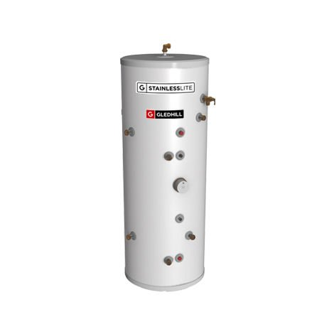 Gledhill 210 Litre Stainless Lite Plus Solar Indirect Unvented Cylinder