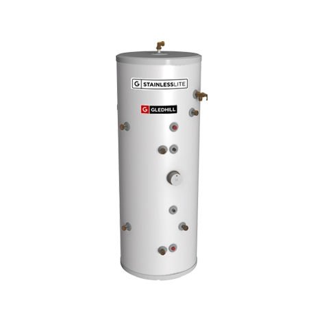 Gledhill 300 Litre Stainless Lite Plus Solar Indirect Open Vented Cylinder