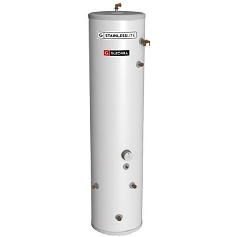 Gledhill 90 Litre Stainless Lite Plus Solar Slimline Direct Unvented Cylinder