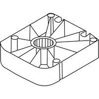 Gleiter 61854 für Sockelverstellfuss Kunststoff schwarz zum Anschrauben