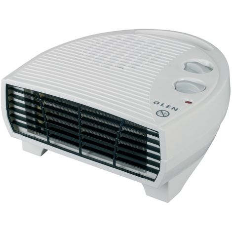 Glen Flat Fan Heater With Thermostat 2kW