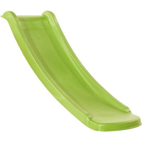 Glissière de toboggan avec vague en PEHD toba 130cm Vert lemon