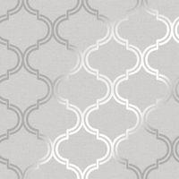 Glistening Geo Grey / Silver Wallpaper