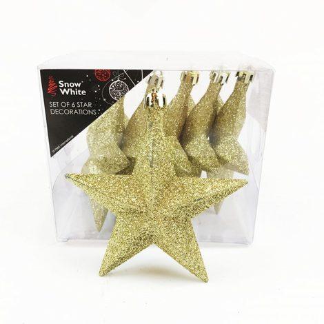 Glitter Christmas Tree Stars