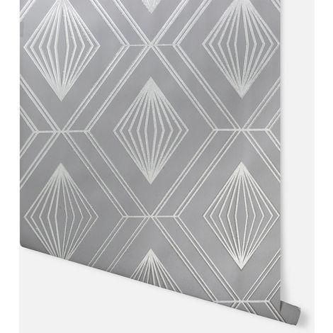 Glitter Diamond Charcoal Grey Wallpaper - Arthouse - 910000