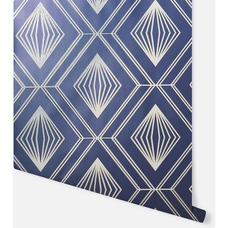 Glitter Diamond Navy & Gold Wallpaper - Arthouse - 910001