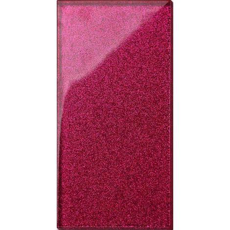 Glitter Pink Glass Bathroom Kitchen Splashbacks Mosaic Metro Tiles MT0112