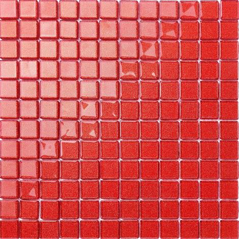 Glitter Red Glass Feature Walls Borders Splashbacks Mosaic Tiles MT0128