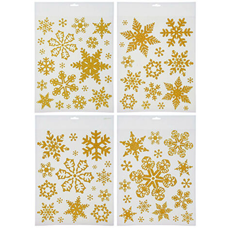 Glitter Window Decorations Stickers