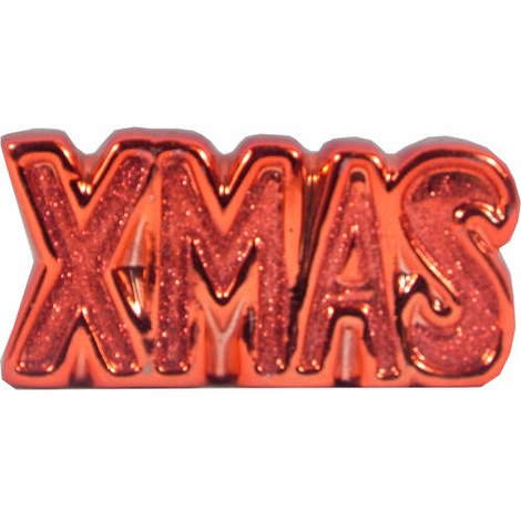 Glitter XMAS sign in Red