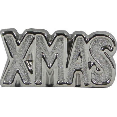 Glitter XMAS sign in Silver
