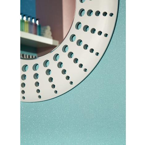 Glitterati Plain Blue Glitter Vinyl Wallpaper 892101