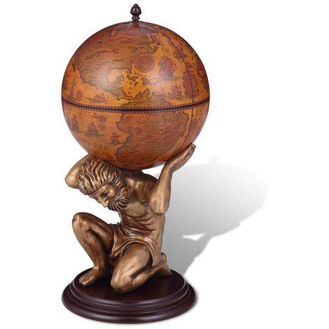 Globe Bar Wine Stand Atlas Design 42x42x85 cm