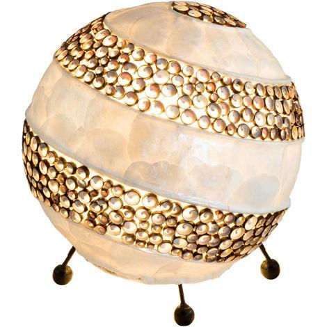 Globe lampe de lecture coquille éclairage de salon rond écrit lampe de table côté nuit Globo 25816