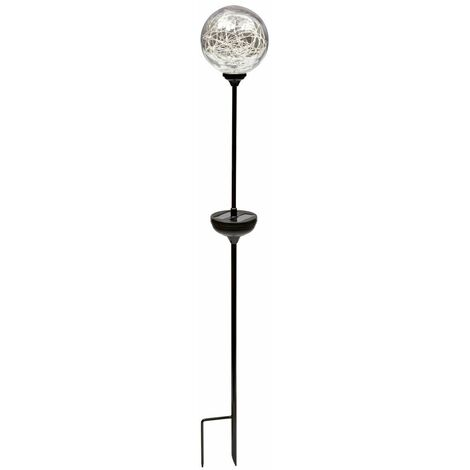 """Globe solaire à planter """"Ophea"""" en verre transparent"""