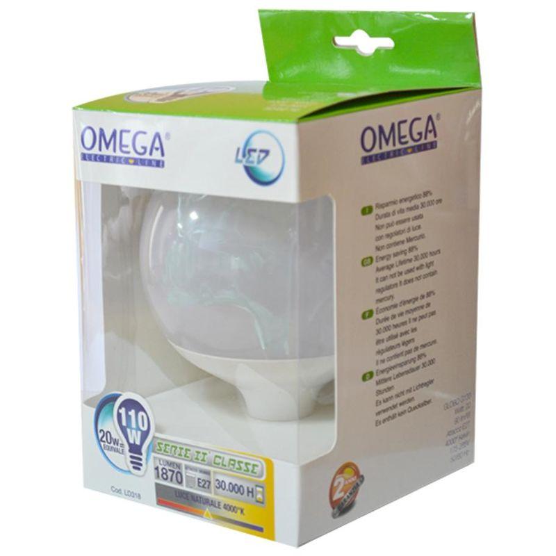 Omega - GLOBO G125 20W E27 2000LM 4000K