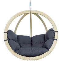 Globo Hanging Chair with Luxury Anthracity Grey Cushions