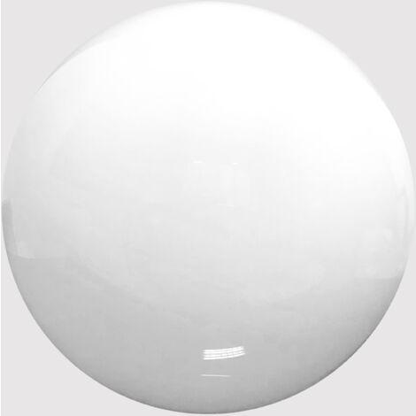 Globo Iluminacion Diametro 25 cm POLICARBONATO BLANCO con Boca 10,5 cm