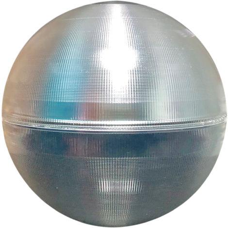 Globo Iluminación LEKR480 anti Contaminación Lumínica Metacrilato Alto Impacto Grabado con reflector interior de Aluminio. Boca 190mm.
