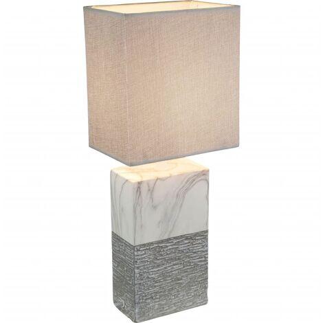 GLOBO Lámpara de mesa JEREMY cerámica 15x12x41 cm 21643T - Gris