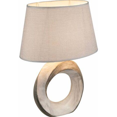 GLOBO Lámpara de mesa JEREMY cerámica 41,5 cm 21641T - Gris