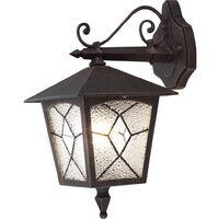 GLOBO Lámpara de pared exterior ATLANTA aluminio negra 3125